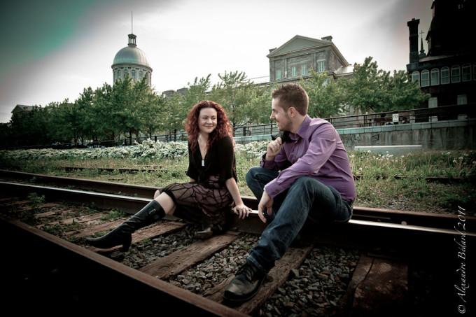 Seance Fiançailles de Josette et Eric dans le vieux-montréal